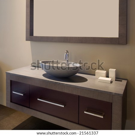 Designer bathroom - stock photo