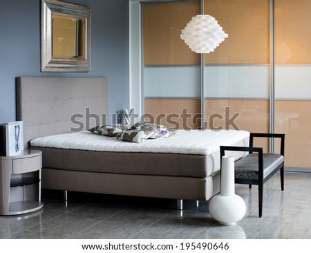 designer bedroom  - stock photo