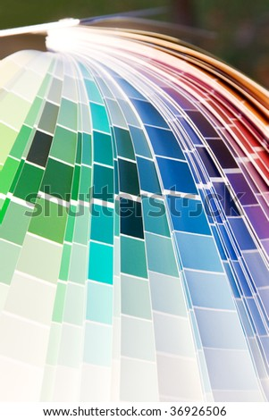 designer color guide close-up - stock photo