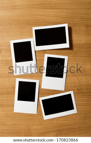 Designer concept - blank photo frames for your photos