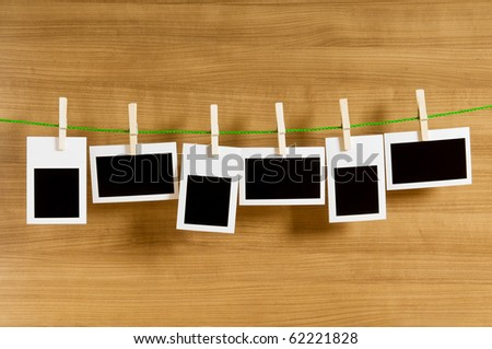 Designer concept - blank photo frames for your photos - stock photo