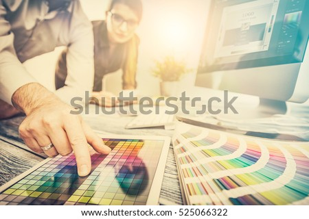 designer graphic creative creativity work tablet designing design imac artist coloring colour ideas style networking human notebook pattern place concept - stock image
