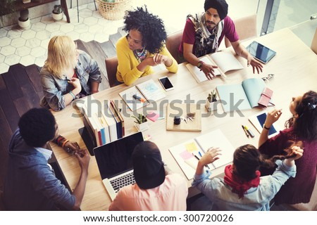 Designer Teamwork Brainstorming Planning Meeting Concept - stock photo
