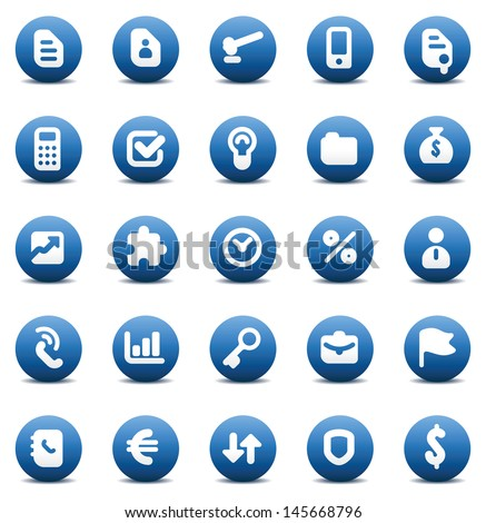 Designers icons set for business metaphors and concepts. Raster version. Vector version is also available. - stock photo