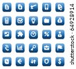 Designers icons set for business. Raster version. For vector version of this image, see my portfolio. - stock photo
