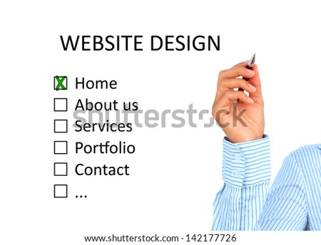Designing website structure. Isolated over white background. - stock photo