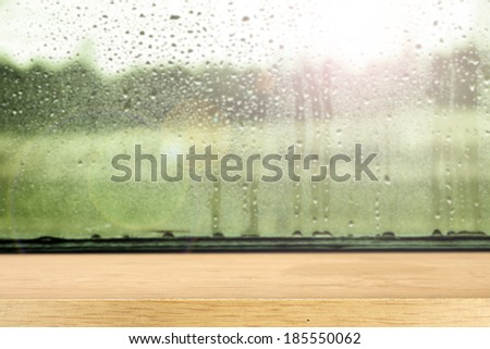 desk and glass  - stock photo