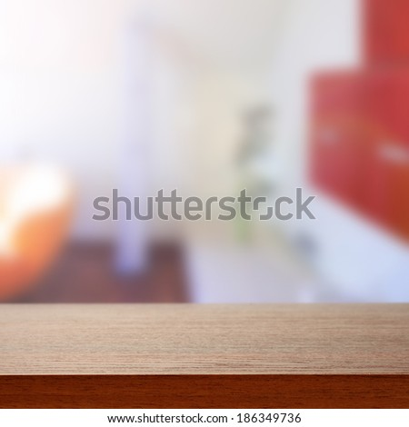 desk and sunlight in home  - stock photo