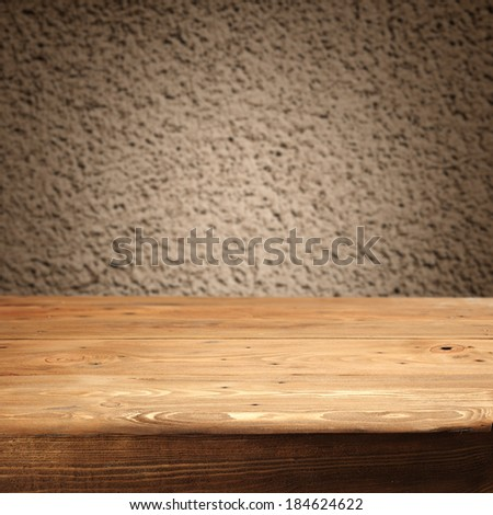desk and wall od dirty color  - stock photo