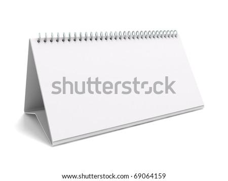 Desk calendar. 3D rendering of a blank desk calendar - stock photo
