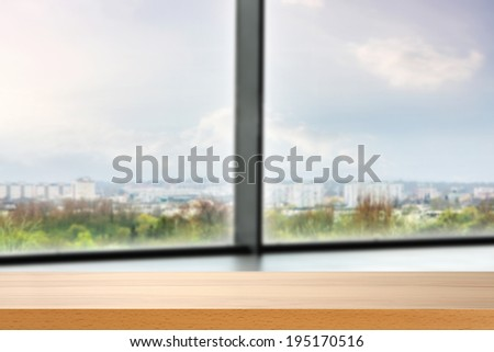 desk in office and window - stock photo