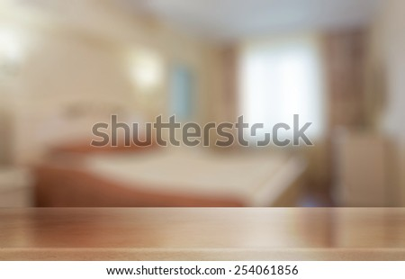 desk in the bedroom - stock photo