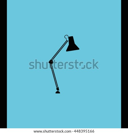 icon lighting. desk lamp icon lighting illustration e