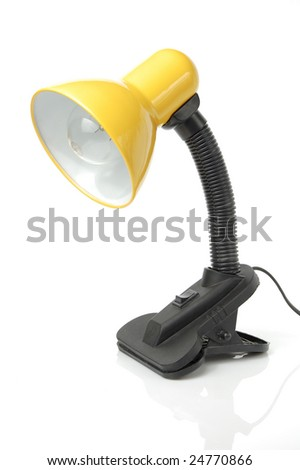 Desk lamp isolated on a white background - stock photo