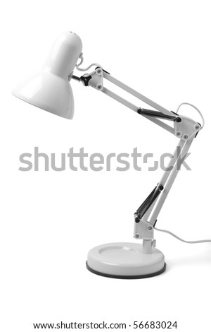 desk lamp on a white background. isolated path included - stock photo