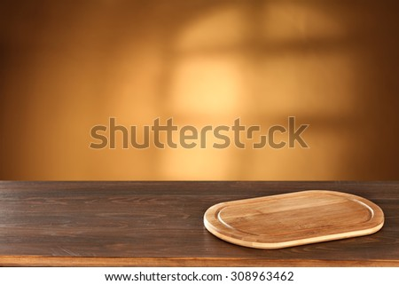 desk of kitchen and wooden top