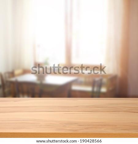 desk room and window  - stock photo