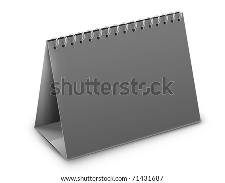 desktop calendar on a white background with no pages