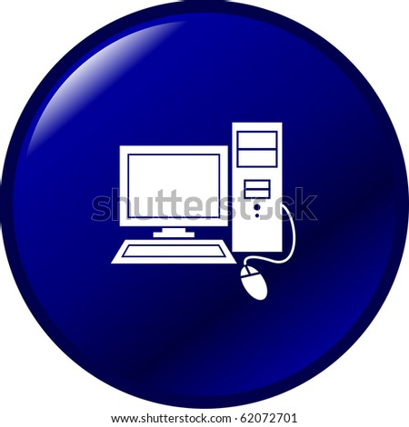 desktop computer workstation button - stock photo