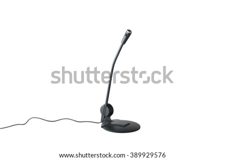 Desktop microphone with cable.