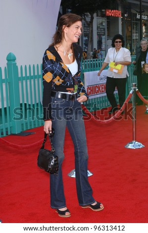 Desperate Housewives star TERI HATCHER at the world premiere of Walt Disney's Chicken Little at the El Capitan Theatre, Hollywood. October 30, 2005 Los Angeles, CA  2005 Paul Smith / Featureflash - stock photo