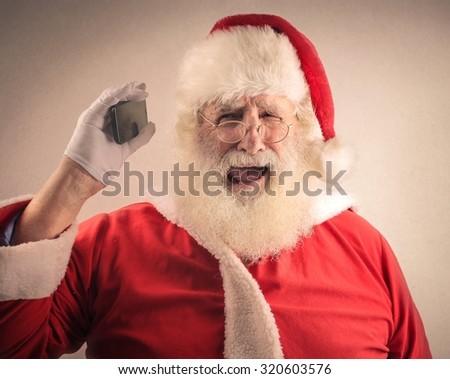 Desperate Santa Claus - stock photo