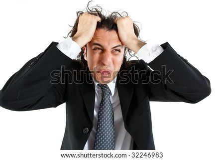 desperate young businessman - stock photo