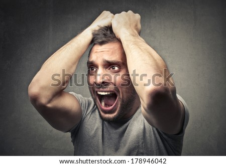 desperation - stock photo