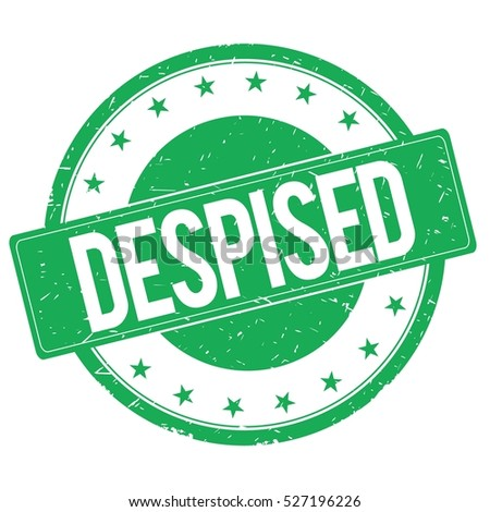DESPISED stamp sign text word logo green.