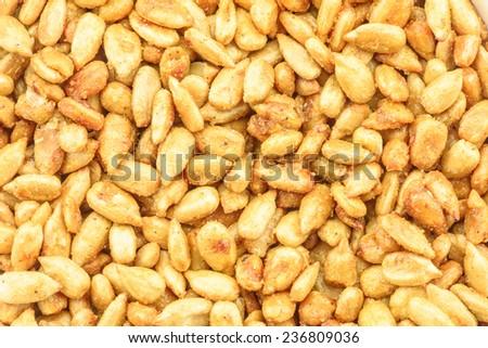 Dessert : Honey roasted sunflower kernels - stock photo