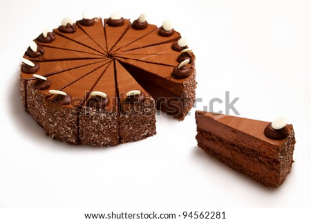 dessert isolated on white background - stock photo