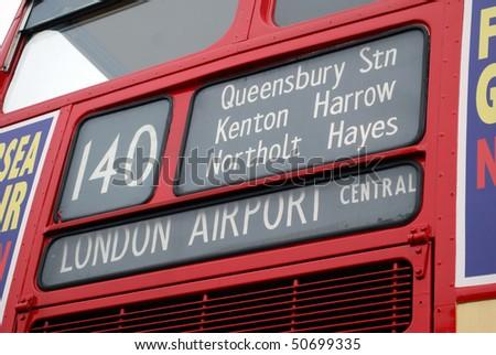 Destination Heathrow Airport - stock photo