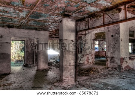 destroyed residency - stock photo