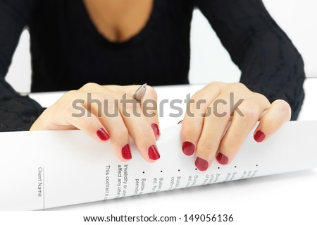 destroying contract - stock photo