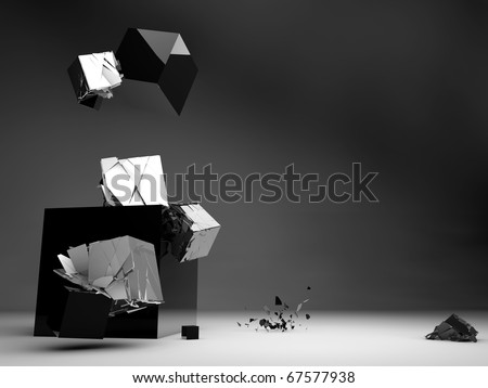 Destructive Design - stock photo