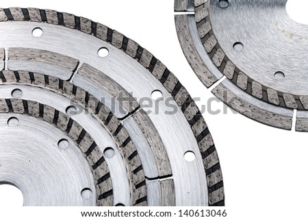 detachable disks for are sharp construction materials - stock photo