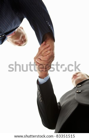 Detail businessmen shaking hands - stock photo