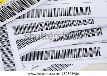 Detail close up of many barcode  - stock photo