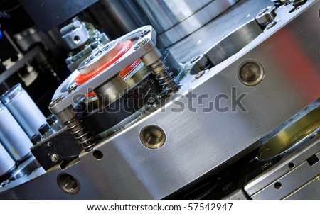 detail CNC punching machine - stock photo