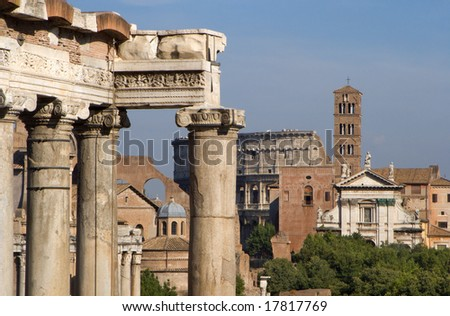 detail from Forum romanum  in Rome