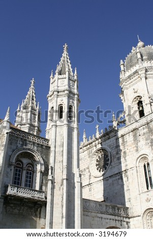 Detail from jeronimos, Lisbon - stock photo