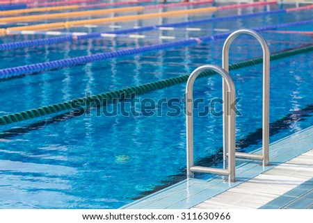 detail from olympic swimming pool with swim lanes - Olympic Swimming Pool Lanes