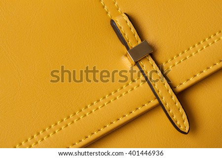 Detail Leather bags close-up.  - stock photo