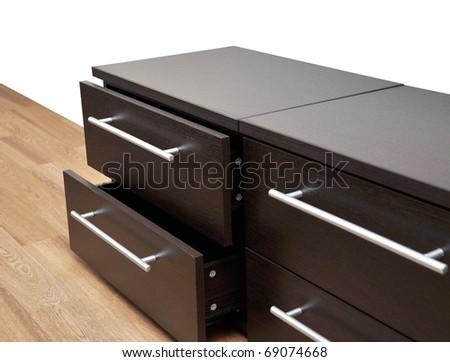 Detail Bedroom Furniture Wenge Wood Stock