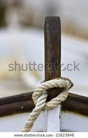 Detail of a boat's bow - stock photo