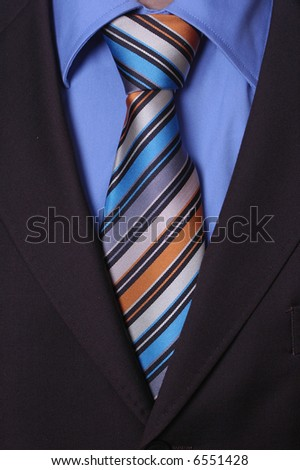 Detail  of a Businessman's Tie - stock photo