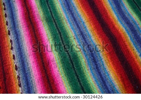 Detail of a clothing colors of Peru - stock photo
