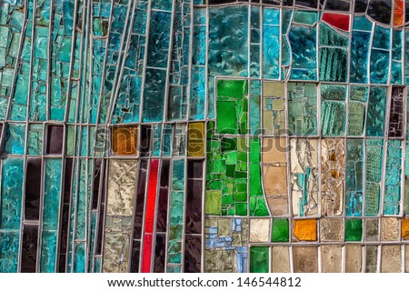 Detail of a colorful window in Italy - stock photo