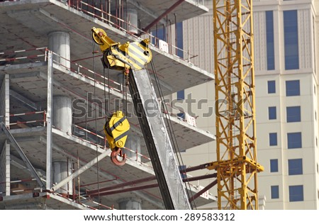 detail of a crane on a construction site