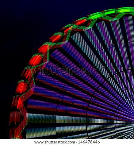 detail of a ferris wheel lights - stock photo